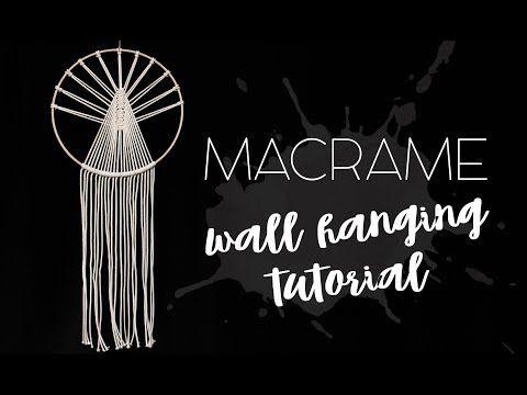 How To Make A Macrame Wall Hanging Dreamcatcher Tutorial Diy Kendi̇n Yap Youtube Macrame Wall Hanging Tutorial Macrame Wall Hanging Dream Catcher Tutorial