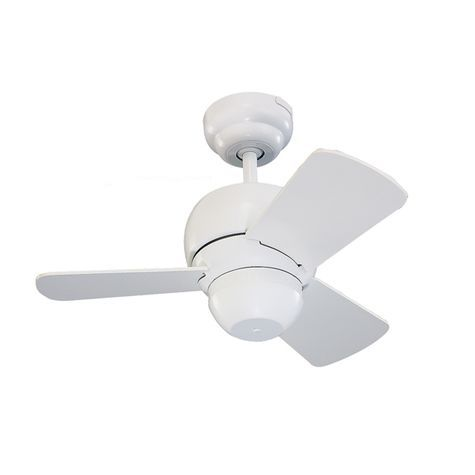 Perry Mini Ceiling Fan White With White Blades Barn Electric 238