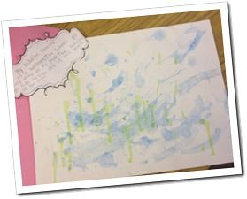 bubble blowing weather writing {freebie}