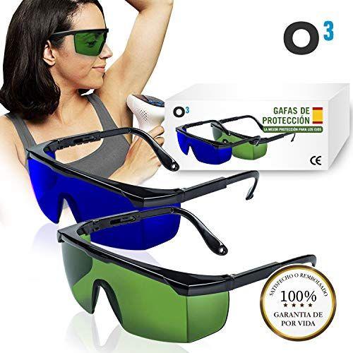 O Gafas Laser Depilación 2 Unidades Gafas De Protección Para Depilación Hpl Ipl Luz Pulsad Gafas De Protección Gafas De Seguridad Gafas