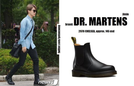Dr Martens 2976 Chelsea Boots Kpop Fashion Men Bts Inspired Outfits Bts Clothing