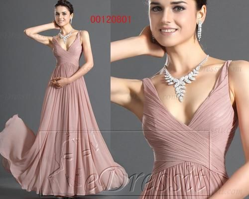 eDressit Neu Rosa V-Ausschnitt Vornehm Abendkleid Ballkelid Gr32-46