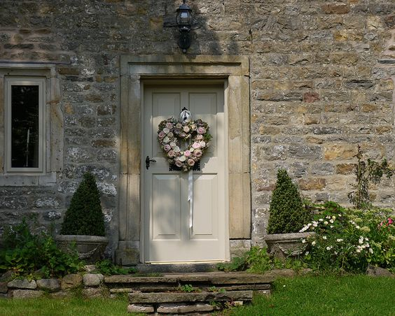English Country Door with Cotswold Stone... try Farrow and Ball Old White