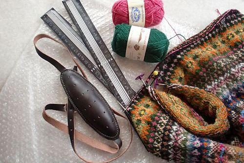 Ravelry: OwnWayKnitting's Mirabel. knitting belt(Maakin). Addi Aluminum DPN 40cm. Shetland yarns.