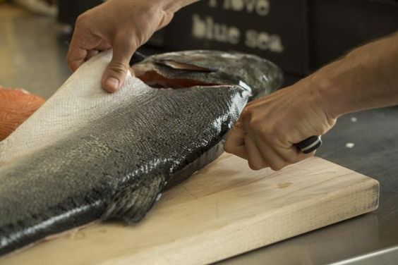 Picture of Breaking Down A Whole Salmon