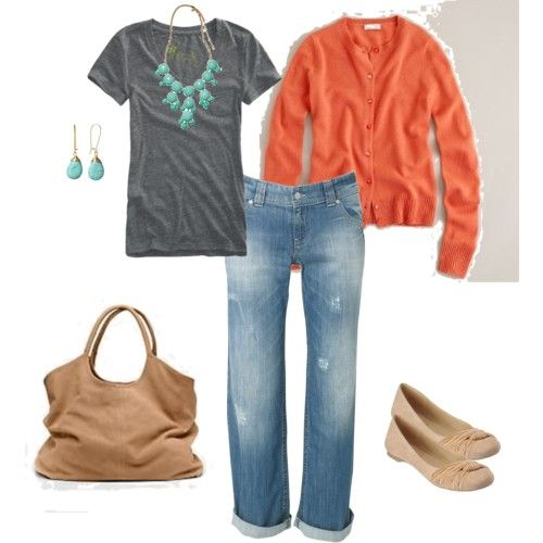 love the orange & turquoise