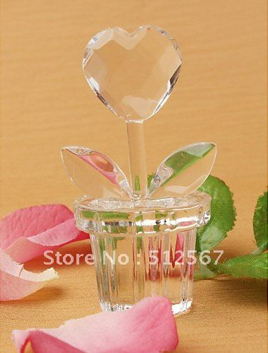 BeterWedding Andenkengroßverkauf SJ023/B bevorzugt Kristallherz-Entwurfs-Blumen-Topf (50pcs/lot) Wedding Favor_Wedding Geschenk