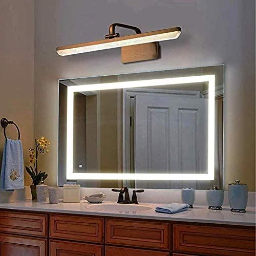 New Reflexon 36 X 28 Inch Led Lighted Vanity Bathroom Mirror Wall Mounted Anti Fog Dimmer Touch Switch Ul Listed Ip44 Waterproof 5500k Cool White 30 In