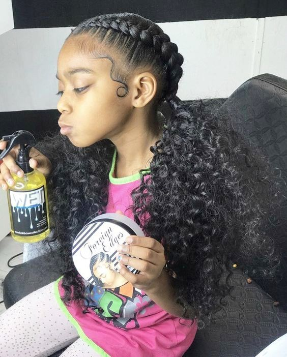 Useful 19 Two French Braids Black Hairstyles Hairstyles Hairs Natural Hair Styles Kids Hairstyles Black Curls