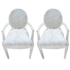 Pair philippe Starck Louis ghost chairs