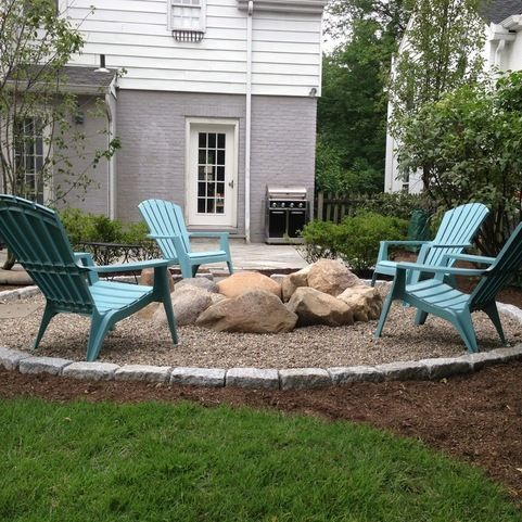 Inexpensive Backyard Landscaping Firepit Design Ideas Pictures Remodel And Decor Fire Pit Landscaping Fire Pit Backyard Backyard Fire