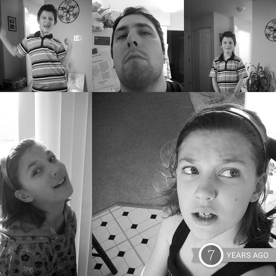 The April Fools Faces of the Hattabaughs... 7 years ago... #aprilfools #flashbackfriday #faces