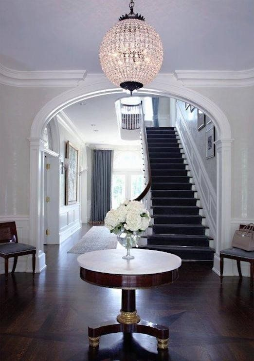 Hall Table Decor Round Foyer, Round Foyer Table Marble Top