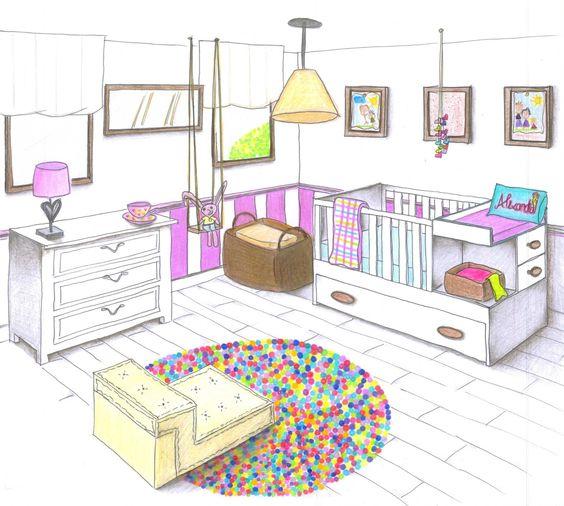 Perspectiva con dos punto de fuga de un cuarto buscar con google pintura pinterest b squeda - Habitacion en perspectiva conica ...
