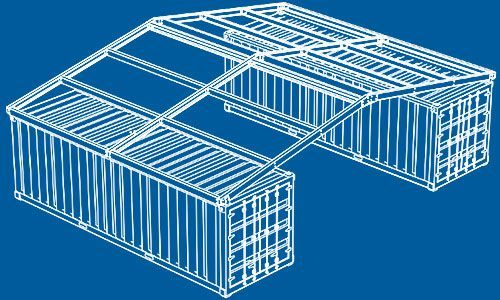 Podroof Shipping Container Roof Kits Provide Durable Economic All Weather Protection F Shipping Container Sheds Shipping Container Shipping Container Buildings