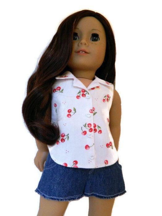 Sleeveless blouse american girl patterns pinterest girl dolls