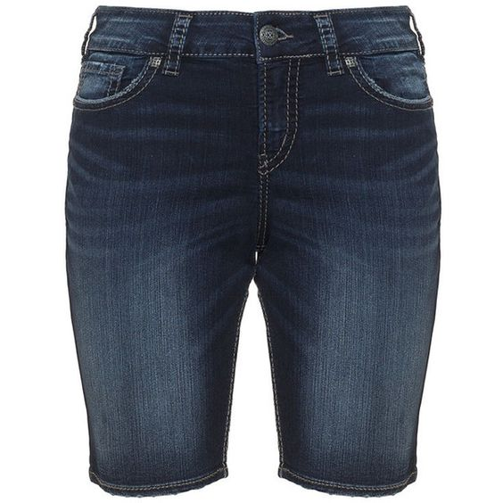 Silver Jeans Dark-Blue Plus Size Suki denim bermuda shorts ($73