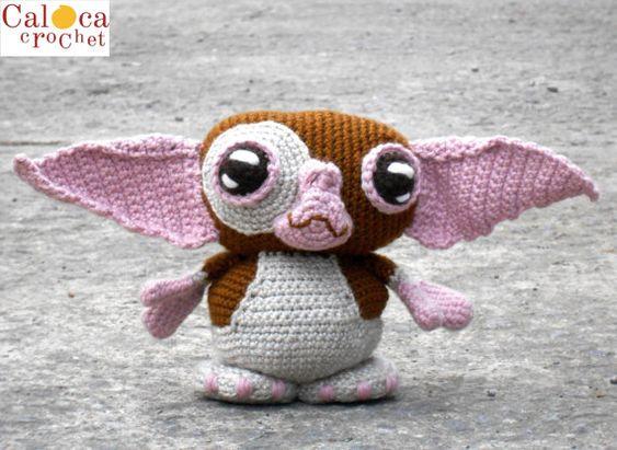 Gizmo Gremlins amigurumi patter. By Caloca Crochet