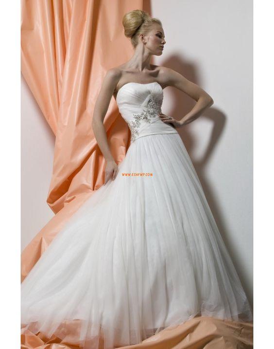 A-line Sans bretelles Elégant & Luxueux Robes de mariée 2014