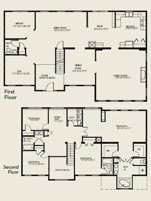 Luxury 4 Bedroom 2 Story House Floor Plans In 2020 4 Bedroom House Plans 5 Bedroom House Plans Bedroom House Plans