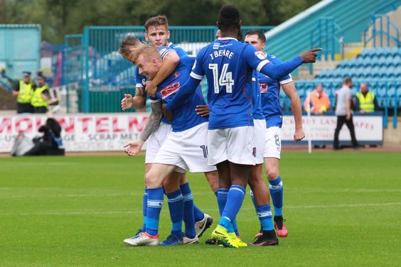 United celebrate equalising against Accrington - one of six league draws so far this term