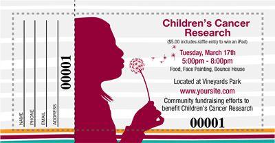 Childrens Cancer Raffle Tickets