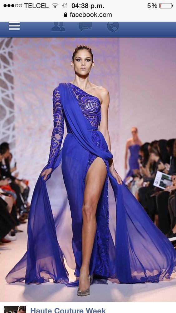 Vestido azul de gala, noche, vestido largo, azul rey