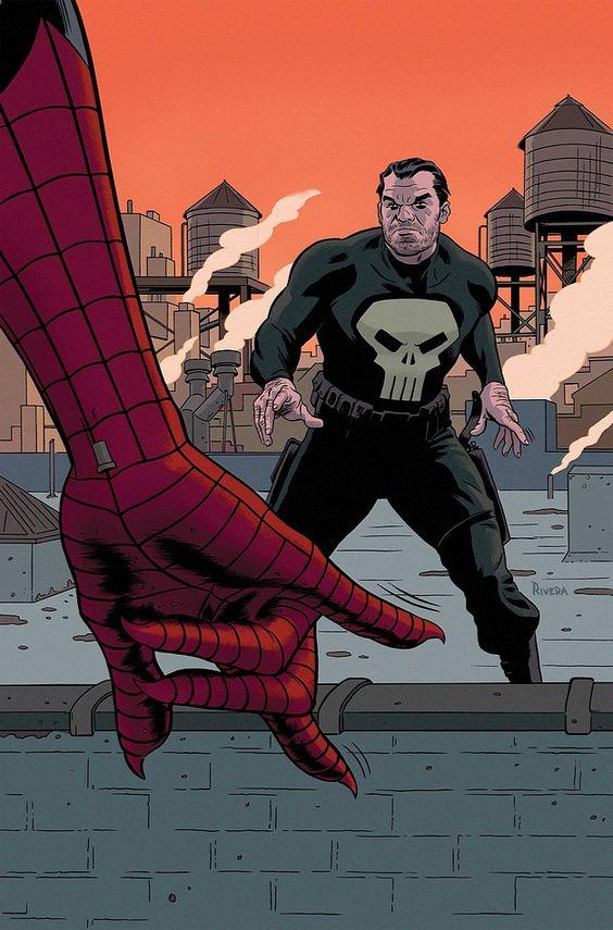comicbookartwork:    Punisher and Spider-Man