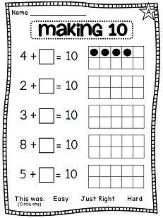 math worksheet : first grade math unit 3 addition to 10  making 10 worksheets and  : Addition To Ten Worksheets