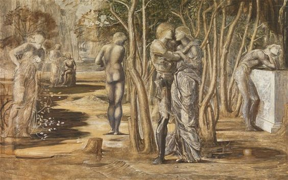 """Burne-Jones's recently discovered, enigmatic """"Tristram and Iseult."""""""