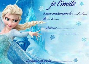 Carte Anniversaire Elsa Reine Des Neiges 2 Cartes Reine Des Neiges Cartes Invitation Anniversaire Enfant Invitation Anniversaire