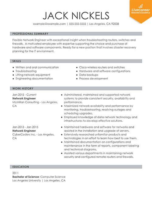 9 Best Resume Formats Of 2019 Livecareer Best Resume Format Resume Format Student Resume