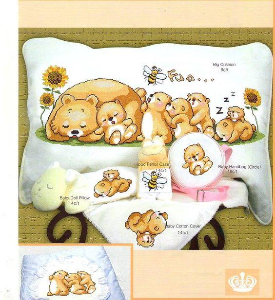 família d'osos dormin