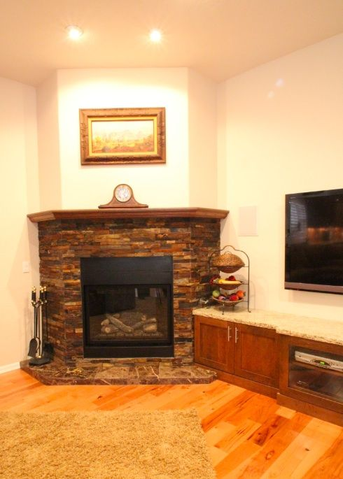 Stone Fireplaces Entertainment Center And Electronics On Pinterest