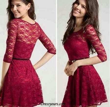 Cranberry lace dress. | Fashion Forward | Pinterest | Pitsi ...