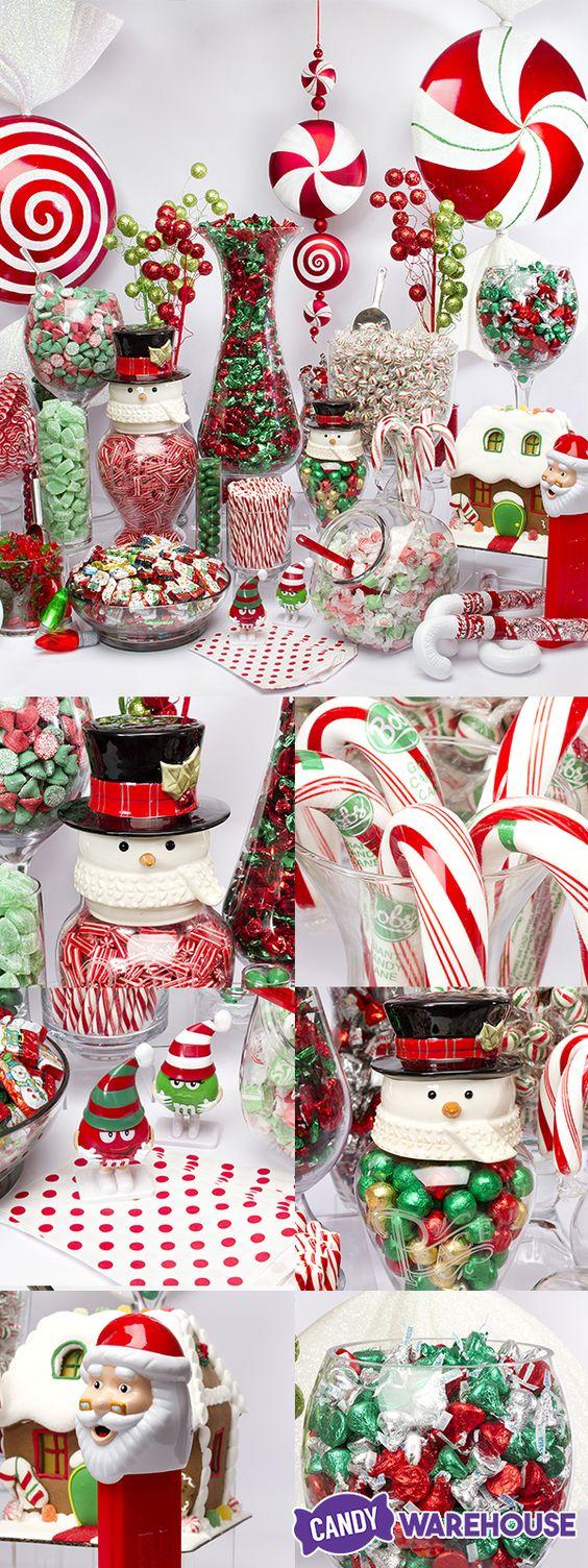 A DIY winter wonderland of festive Christmas candy! Giant ...