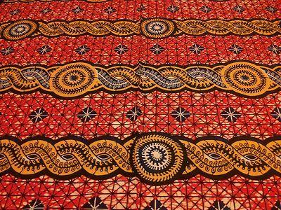 0 5 Yard Yellow Red Orange Dessus Dessous Design 100 Cotton African Wax Print | eBay