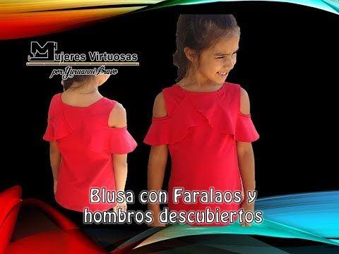 blusa con faralaos y hombros al aire madre e hija YouTube