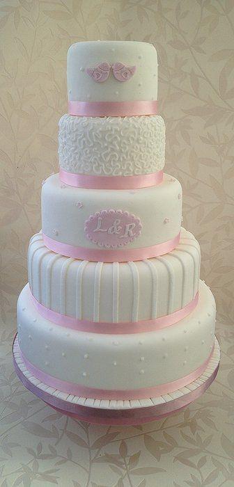 love bird and monogram cake