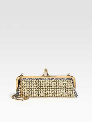 Christian Louboutin  Miss Loubi Studded Python Clutch.. need i say more.$1595 at Saks