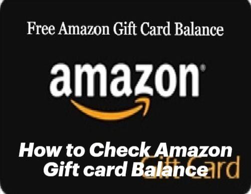 Check Your Amazon Gift Card Balance Amazon Gift Card Free Gift Card Balance Free Amazon Products