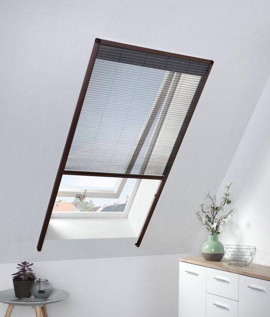 Hecht Insektenschutz Dachfenster Rollo Braun Anthrazit Bxh