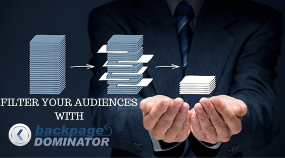Filter your audiences with BackpageDominator