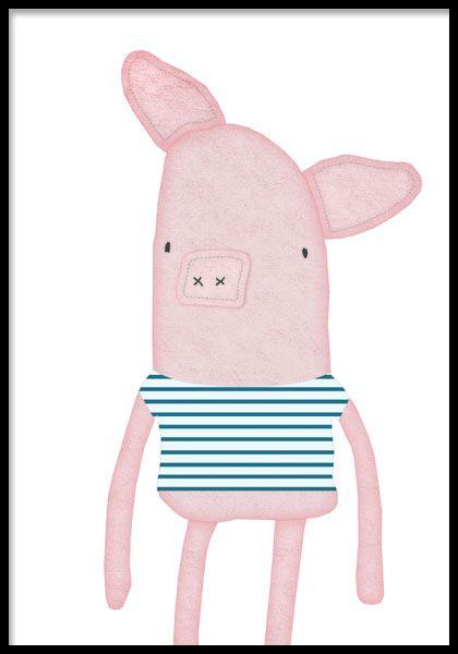 Fin poster till barnrum med sött djur. | Barnrum | Pinterest | Poster