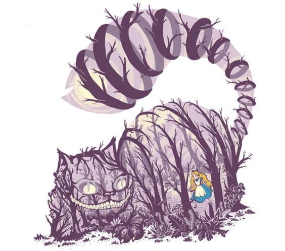 Inside Wonderland. Alice, Alicia en el país de las maravillas, gato de Cheshire, cat.: