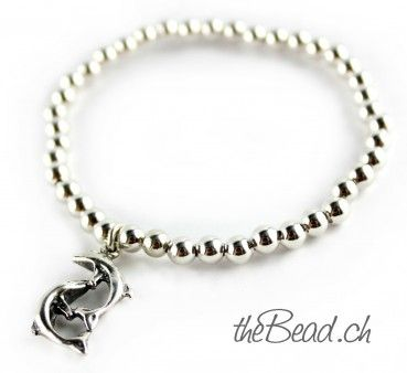 Silver beads delfin bracelet / Delfin Armband aus 925 Sterling Perlen