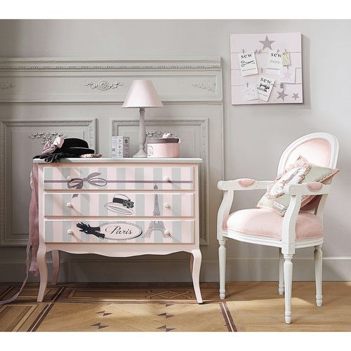 Tiroirs pastel and paris on pinterest - Chambre fille paris ...