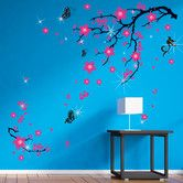 Found it at Wayfair.co.uk - Swarovski with Pink Blossom Flowers for Children's Room Wall Sticker