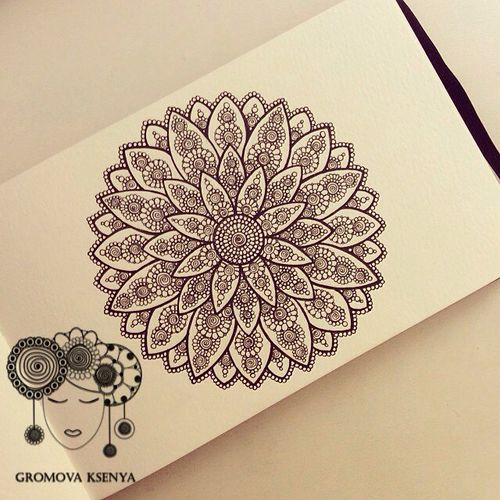 Mandala Closest thing I could find that looks like my favorite flower (dahlia) and still stay in the paisley/lace family!