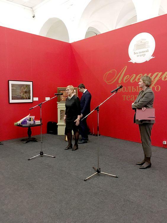 Выступление заведующей Музеем Большого театра Лидии Хариной на открытии выставки в Калининграде. Фото Жени Шведы